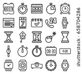 time icons set. set of 25 time... | Shutterstock .eps vector #658704286