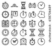 second icons set. set of 25... | Shutterstock .eps vector #658706689
