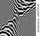 3d wavy background. dynamic... | Shutterstock .eps vector #658709149
