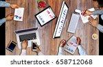business man working ... | Shutterstock . vector #658712068