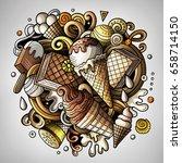 cartoon cute doodles hand drawn ... | Shutterstock .eps vector #658714150