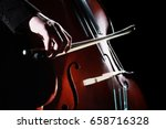 double bass player hands... | Shutterstock . vector #658716328