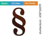paragraph symbol icon. flat...