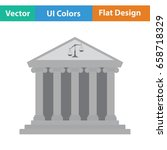 courthouse icon. flat color... | Shutterstock .eps vector #658718329