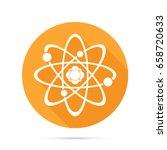 atom icon. science sign. atom...   Shutterstock .eps vector #658720633