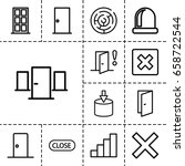 exit icon. set of 13 outline... | Shutterstock .eps vector #658722544