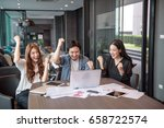successful business group... | Shutterstock . vector #658722574