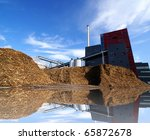 bio power plant with storage of ... | Shutterstock . vector #65872678