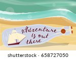 adventure is out there. message ... | Shutterstock . vector #658727050