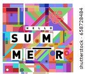 trendy vector holiday summer...   Shutterstock .eps vector #658728484