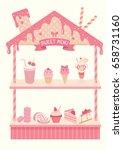 sweet menu display shelf... | Shutterstock .eps vector #658731160