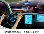 Cockpit Of Autonomous Car. Sel...