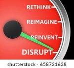 disrupt rethink reimagine... | Shutterstock . vector #658731628