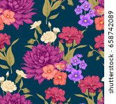 Floral Seamless Background Wit...
