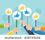 group of business people with... | Shutterstock .eps vector #658745656
