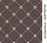 seamless vector golden pattern. ... | Shutterstock .eps vector #658748749