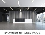white and black reception... | Shutterstock . vector #658749778