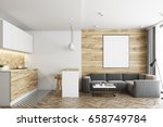 living room in a studio... | Shutterstock . vector #658749784