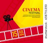 cinema festival poster template....