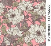 elegance seamless pattern with... | Shutterstock .eps vector #658752220
