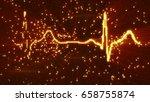 glowing orange...   Shutterstock . vector #658755874
