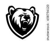 bear wild animal head mascot...   Shutterstock .eps vector #658756120
