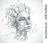 communication technology 3d... | Shutterstock .eps vector #658763860