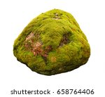 large stone covered with green... | Shutterstock . vector #658764406
