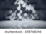 abstract geometric pattern wall ... | Shutterstock . vector #658768246