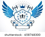 heraldic sign made with vector... | Shutterstock .eps vector #658768300