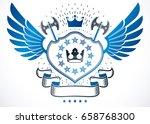 heraldic sign made with vector... | Shutterstock .eps vector #658768300