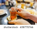 turkish tea with traditional... | Shutterstock . vector #658770766