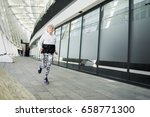 serious fit old lady running...   Shutterstock . vector #658771300