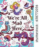We Are All Mad Here. Art Print...