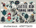 set with cartoon characters... | Shutterstock .eps vector #658772653
