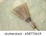 thai wooden broom | Shutterstock . vector #658773619