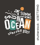 ocean and sun typography... | Shutterstock .eps vector #658773940