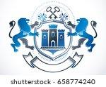 heraldic sign created using... | Shutterstock .eps vector #658774240