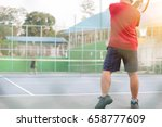 views from the viewer through a ... | Shutterstock . vector #658777609