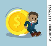 african businessman trying to... | Shutterstock . vector #658779013