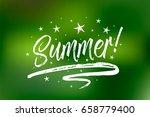 summer banner. bokeh green...   Shutterstock .eps vector #658779400