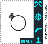 diamond ring icon flat. simple... | Shutterstock .eps vector #658779859