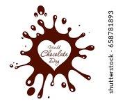 world chocolate day. ... | Shutterstock . vector #658781893