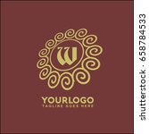 vector floral logo for shops or ...   Shutterstock .eps vector #658784533