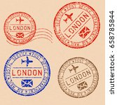collection of london postal... | Shutterstock . vector #658785844