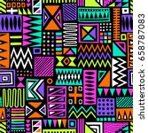 multicolor vector seamless... | Shutterstock .eps vector #658787083
