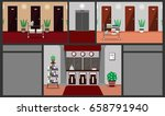 illustration of a hotel... | Shutterstock . vector #658791940