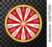 wheel of fortune lottery luck... | Shutterstock .eps vector #658792300