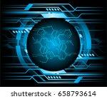 future technology  blue cyber...   Shutterstock .eps vector #658793614