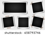 set of retro photo frames with... | Shutterstock .eps vector #658793746
